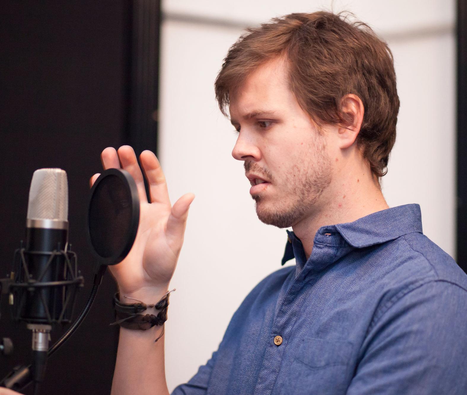 Bjorgvin infront of mic